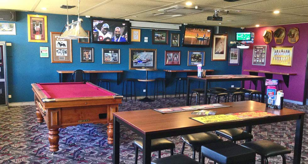 All sporting events are available for viewing on the big screens in the very comfortable Sportsmen's Bars or Lounge.